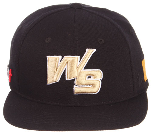 8aaaef90d5234 (808) White Sands Pupfish 2018 Flex Fit Game Hat Length-  25.00 The hats  are black with the Original WS logo in raised Vegas Gold Stitches.